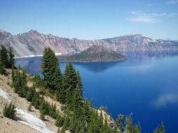 Crater lake in the Oregon
