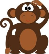 painted brown monkey
