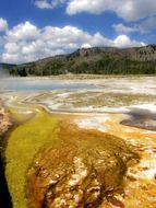 landscape in Yellowstone National Park, Wyoming, USA