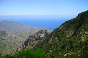 sea mountains viewpoint canary islands