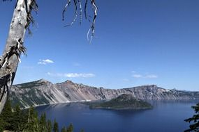 Picturesque crater lake