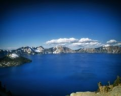 Landscape of Crater Lake in Oregon