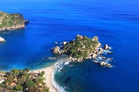 aerial view of Sicily island