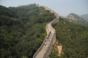 panorama of the great wall of China