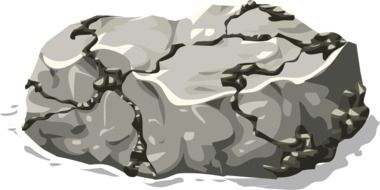 graphic drawing of gray rocks