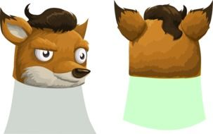 Head of fox clipart