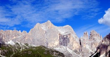 majestic dolomites mountains in Italy