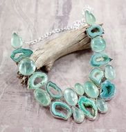 aqua green apatite, handmade stone necklace