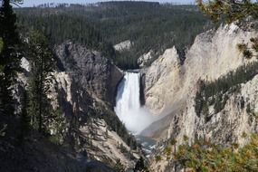 waterfall in yellowstone national park