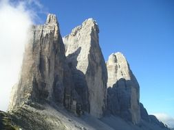 Famous natural sight of the Dolomites