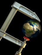 screw clamp suppression earth globe