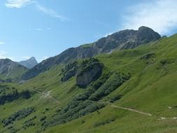 pagoramic view of the hiking trail to the top of the sulz