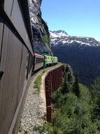 mountain train on alaska