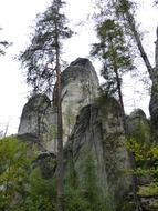 rock formations stone poland