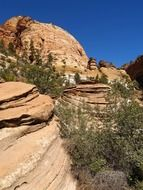 view of the rocks in Zion National Park, Utah