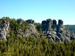 Elbe Sandstone Mountains in the Czech Republic