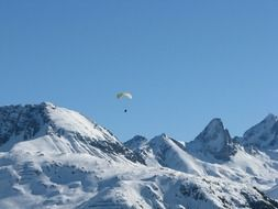 parachute over the Arlberg mountain range