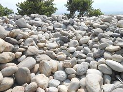 mountain of pebbles