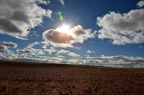 cloudy sky over the desert in namibia