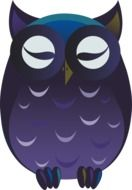 owl purple cartoon drawing