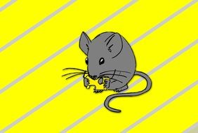 Graphics in the form of a gray mouse