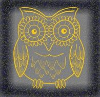 golden owl drawing