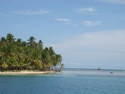 paradise landscape of the island of San Blas in Panama