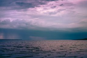 storm on the horizon of the ocean