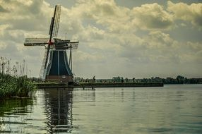High windmill in Netherlands