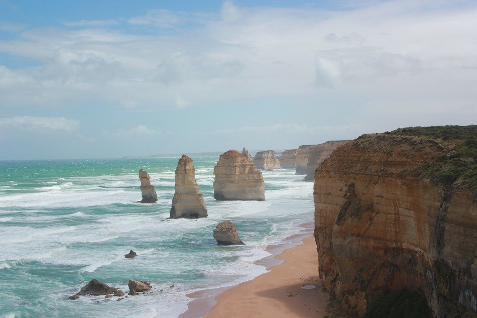 panorama of the twelve apostles on the coast of australia