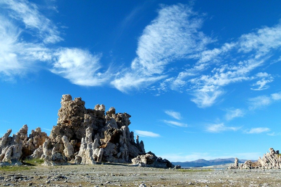 Unusual landscape near the lake mono in california