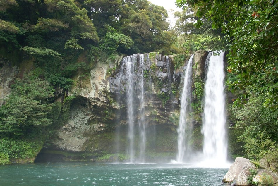Waterfall on a jeju island