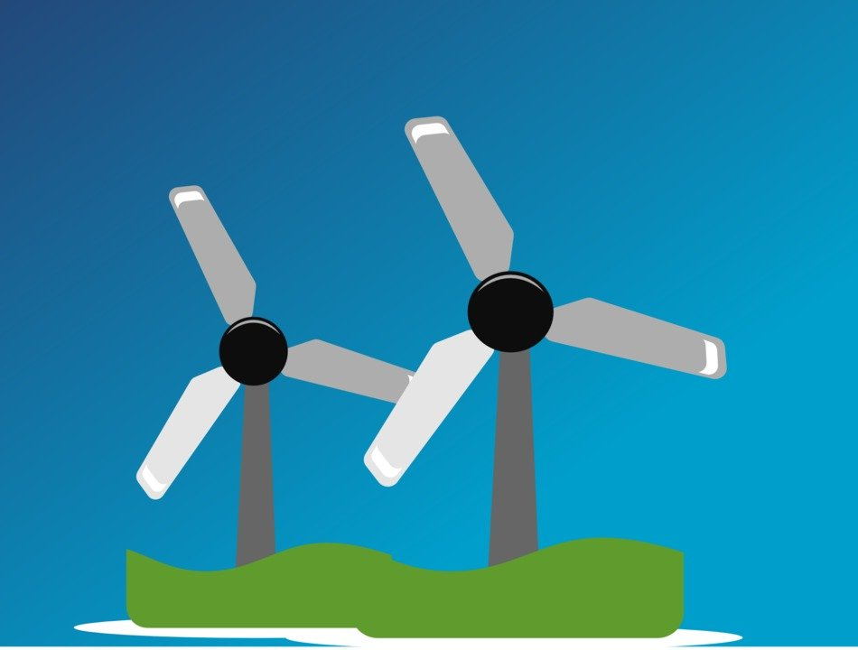 graphic image of wind turbines