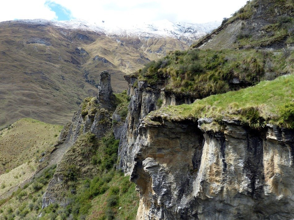 panorama of canyon in new zealand
