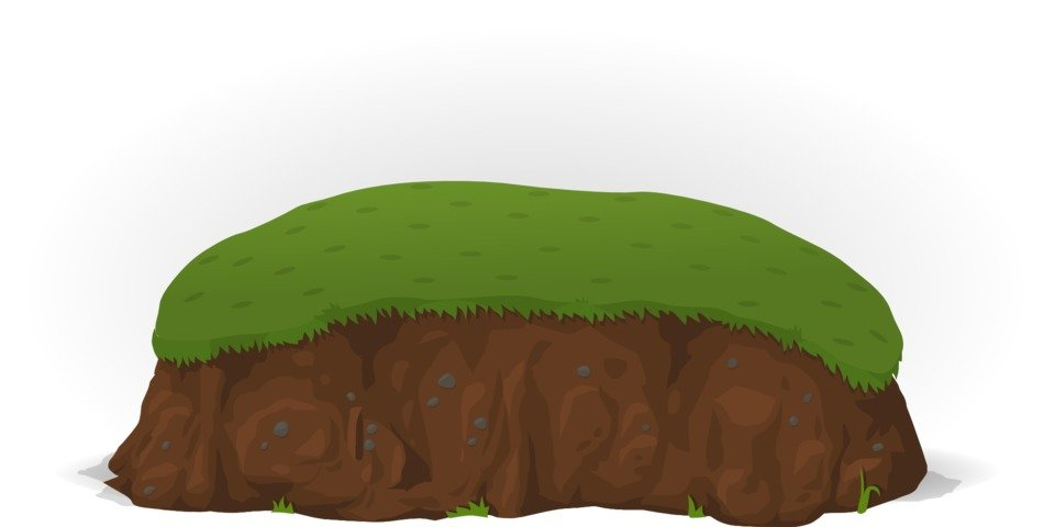 graphic drawing of a hill