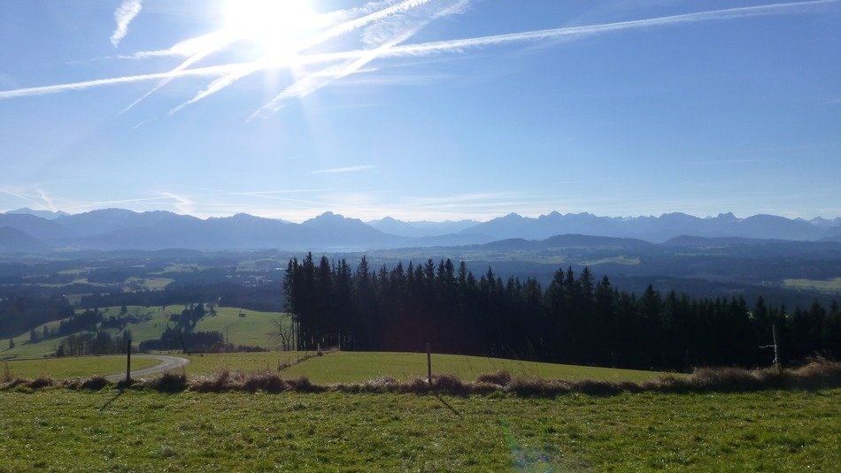 panoramic view of the countryside in southern germany