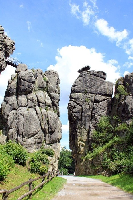 externsteine is a group of rocks in the Teutoburg Forest