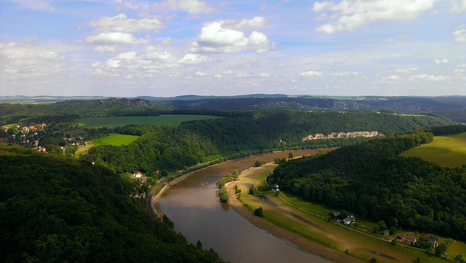 river landscape of the Elbe, Saxony