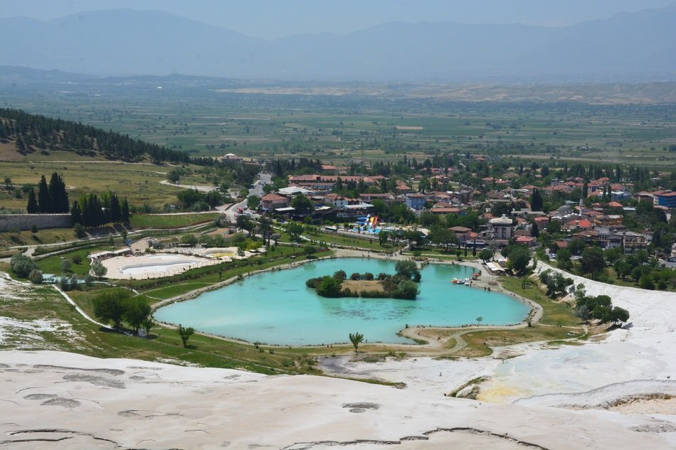 turkey pamukkale lake landscape