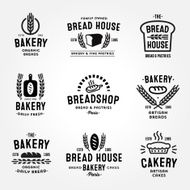 Large Set of bakery badges and logos