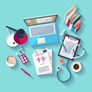 Medical workplace Flat design