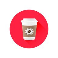 coffee cup vector icon N2