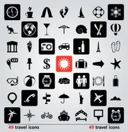 Vector travel icons N2