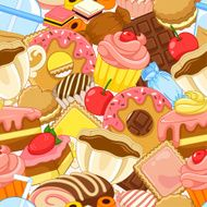Seamless sweets pattern N2