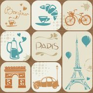 Paris themed icons
