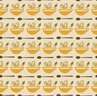 Coffee Cup Seamless Background Pattern