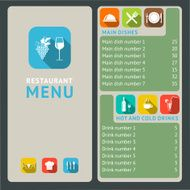 Restaurant menu template N17