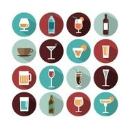 vector drinks icons N2
