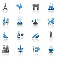 Blue France Icon Set
