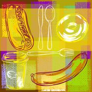 Abstract Food Background N7